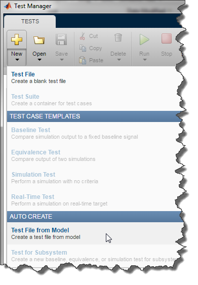 Creating a test File
