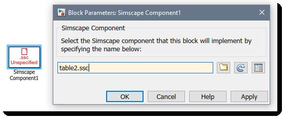 Simscape Component Block