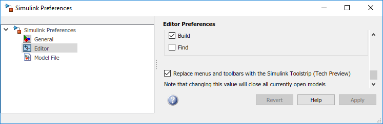 Simulink Preferences