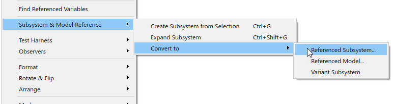 Converting a Subsystem Reference