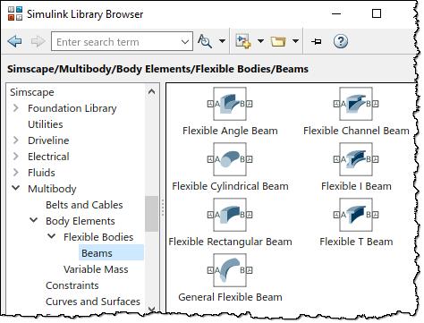 Flexible Beam Library