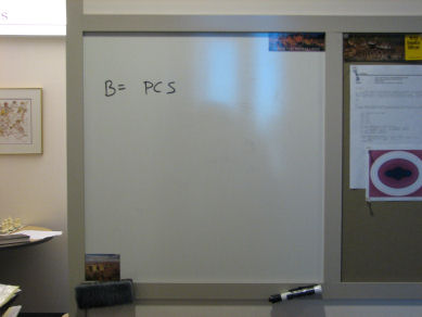 Picture of whiteboard with equation
