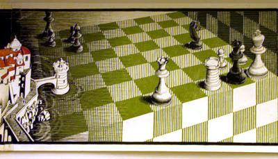 Escher chess board