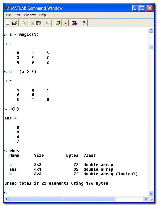 MATLAB 5.1 screen shot