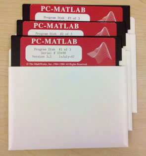 MATLAB disks from 1987