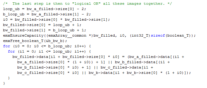 Generating code from Image Processing Toolbox functions