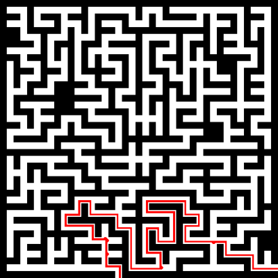 Solving mazes with the watershed transform » Steve on Image