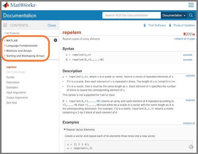 new online documentation system for r2015a steve on image rh blogs mathworks com livelink matlab user's guide Example User Guide