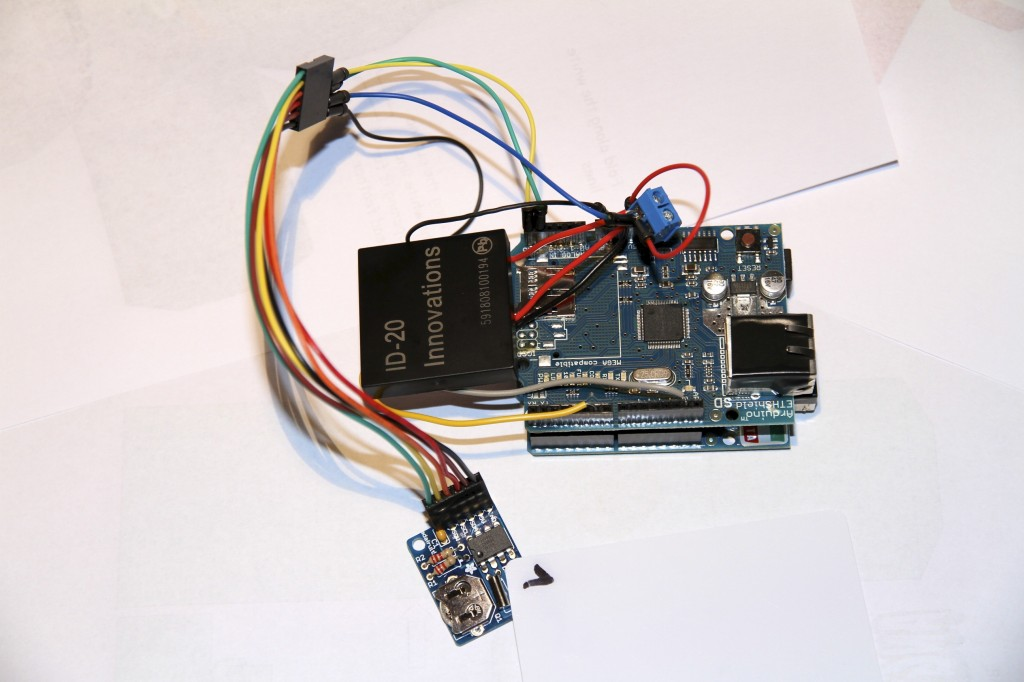 ThingSpeak Shower Time Analysis with RFID and Arduino Ethernet