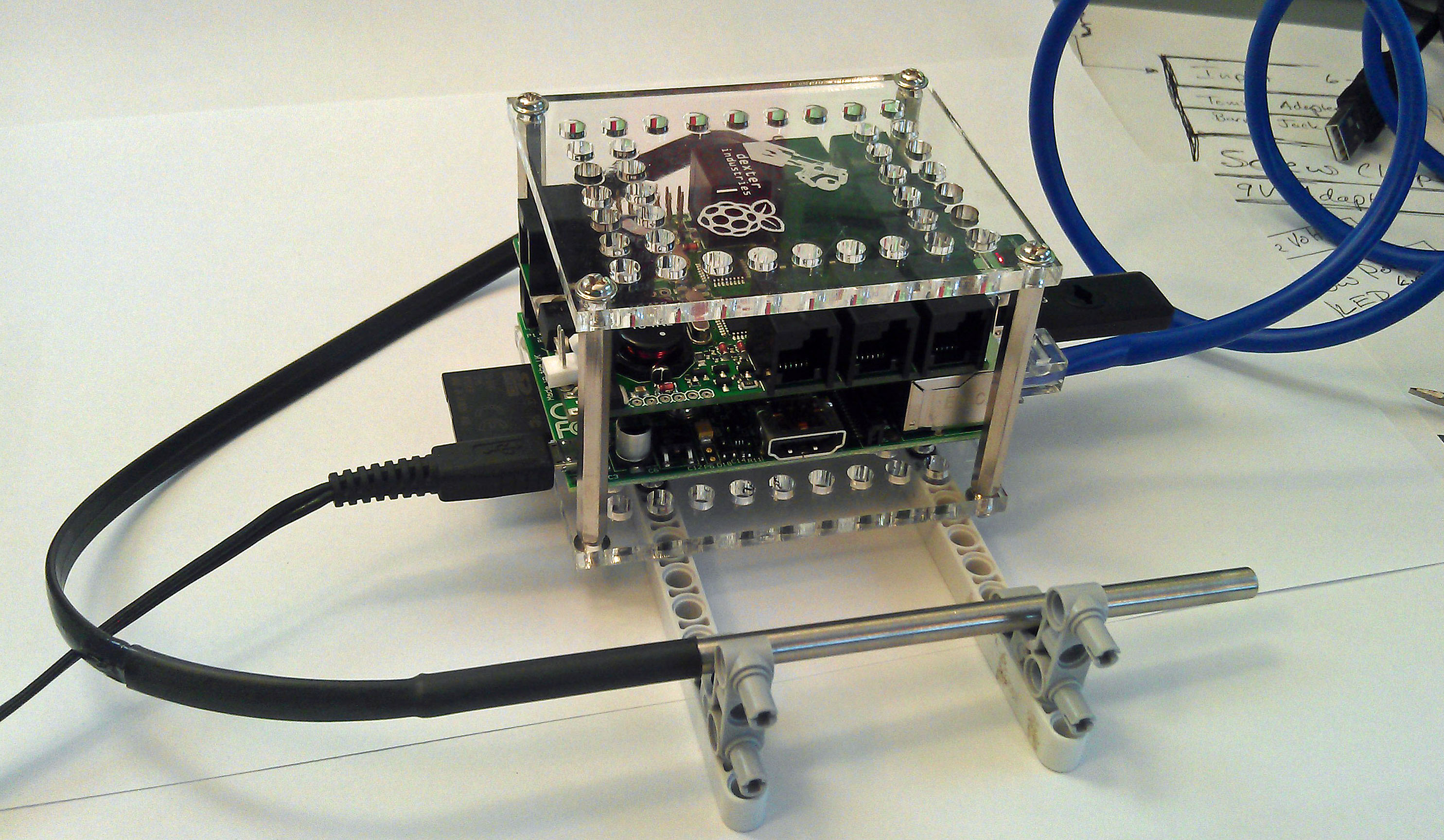 BrickPi Weather Station using ThingSpeak and the Raspberry Pi