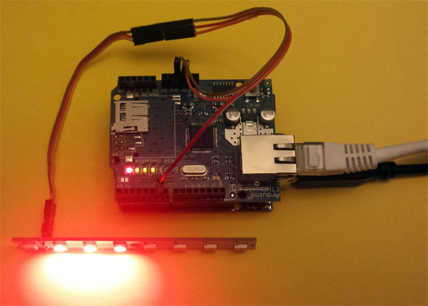 CheerLights with Arduino FastLED RGB-123