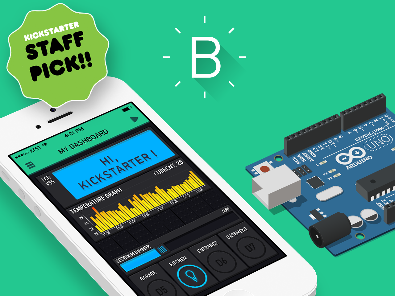 Blynk internet of things app for arduino to support