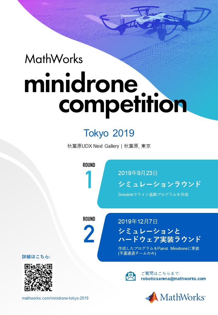 MathWorks Minidrone Competition at Tokyo 2019