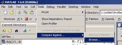 MATLAB file comparison tool