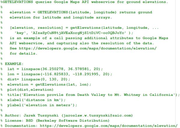GetElevations File Exchange Pick Of The Week - Get elevation from latitude longitude