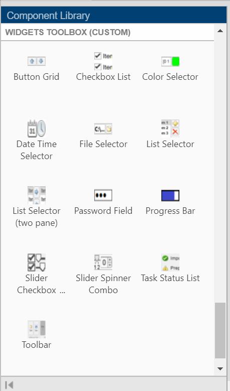 Widgets Toolbox - MATLAB App Building Components